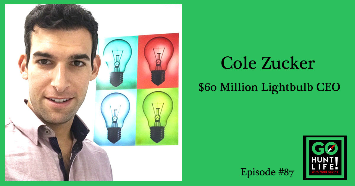 Ep87 This $60M Co-CEO Started With 2 Duffel Bags, $3,000 and a Box of Lightbulbs – Cole Zucker 💡🚀