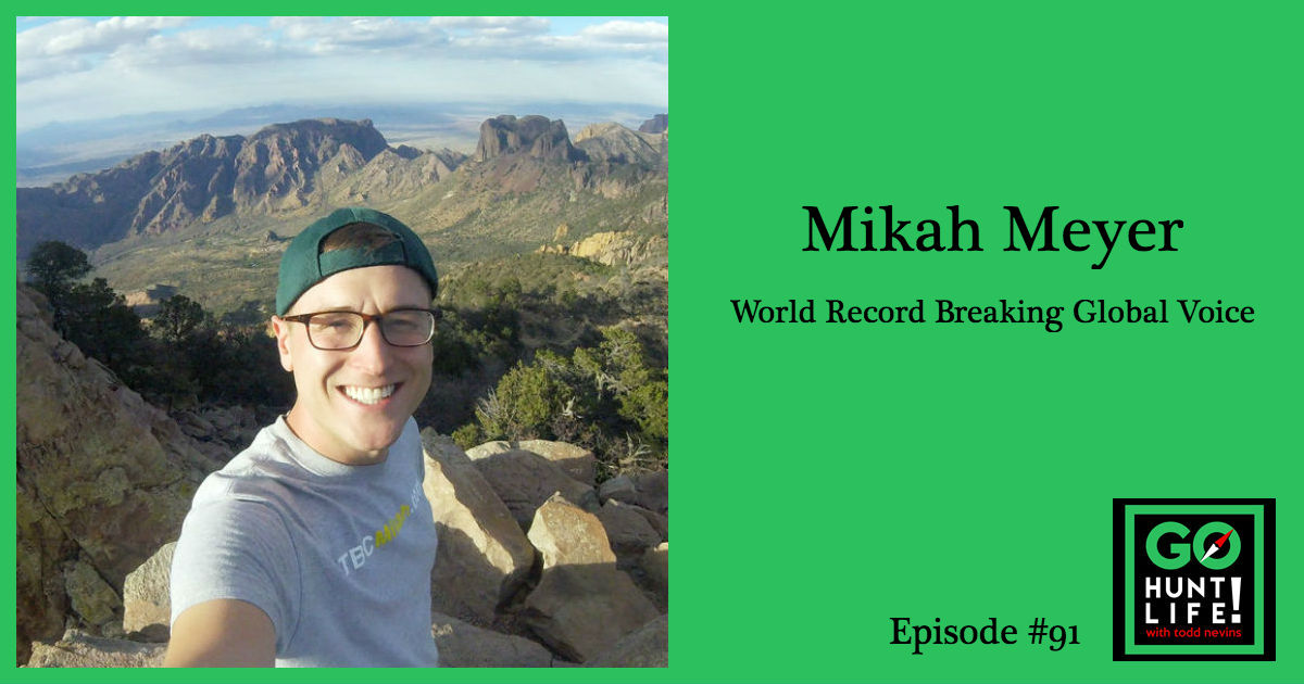 Ep91 Set Out to Break 2 World Records, Now a Global Voice for LGBT Inclusion in the Outdoor Community – Mikah Meyer 🏳️🌈