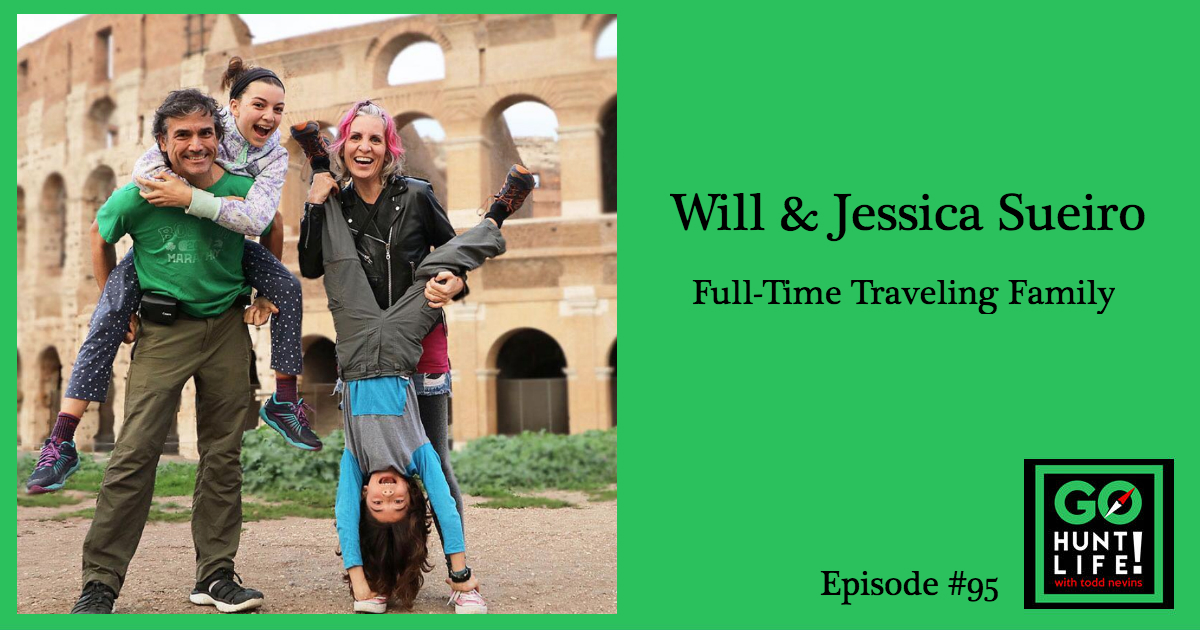 Ep95 Pulling the Ripcord was a Living Hell but a Family of 4 Finds Their Way Wandering the World – Will and Jessica Sueiro ✈️ 🚌